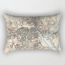 Vintage Map of Providence Rhode Island (1887) Rectangular Pillow