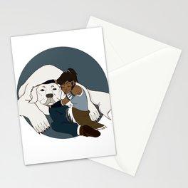Korra and Naga Stationery Cards