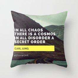 Carl Jung Order Chaos Throw Pillow