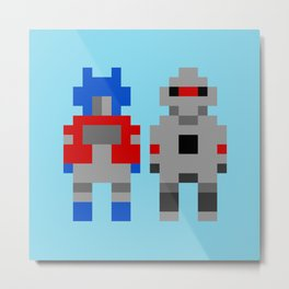 Optimus Prime and Megatron / Transformers Metal Print