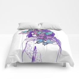 Amongst Butterflies Comforters