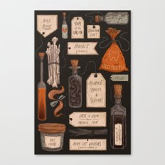 Spooky Halloween Odds and Ends Canvas Print