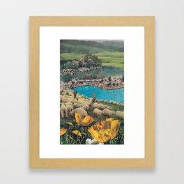Sheep Farm Framed Art Print