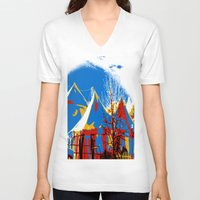 circus V-neck T-shirts featuring Circus by LoRo  Art & Pictures