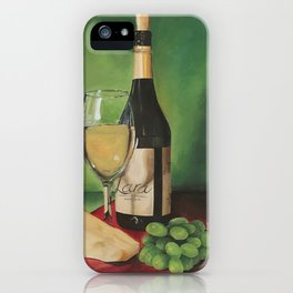 White wine, Still life iPhone Case
