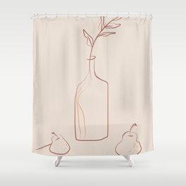 Minimal line still life simple life Shower Curtain
