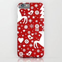 Scandinavian Christmas pattern iPhone Case