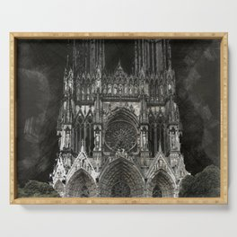 Cathedral Black Serving Tray
