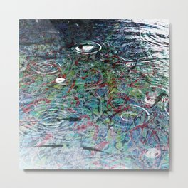 Fish in Electron Rain - Dream Series 006 Metal Print