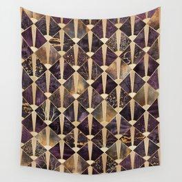 Art Deco Tiles - Plum Wall Tapestry