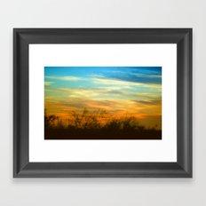 Western Sunset Framed Art Print
