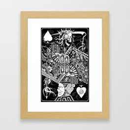 Death & Devil - Jack of Spades Card - The wages of sin is death (for Vito) Framed Art Print