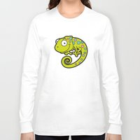 chameleon Long Sleeve T-shirts featuring Chameleon by Martin Jonas