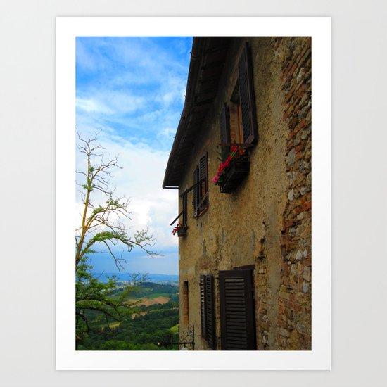 Shutters of Tuscany Art Print
