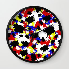 COMIC BOOK PATTERN Wall Clock