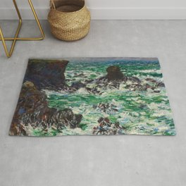 """Claude Monet """"Port Coton: Le Lion"""" Rug"""