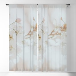 White Cherry Blossom Photo | Plantlife Photography | Atmospheric Blossom Close-up Blackout Curtain