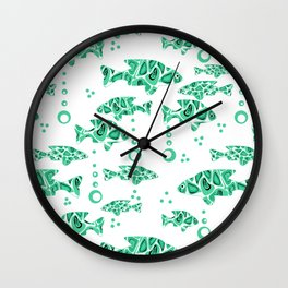 The green fish . Wall Clock