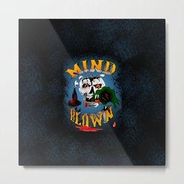 Drunken Skull Metal Print