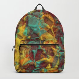 Stylish Colorful Artistic 3D Polygon Mosaic Pattern Backpack
