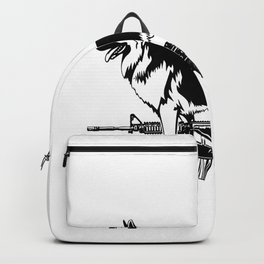 Your Dog Fetches Balls? That´s Cute Police German Shepherd Backpack