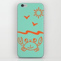 crab iPhone & iPod Skins featuring crab by gzm_guvenc