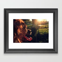 dog daze Framed Art Print
