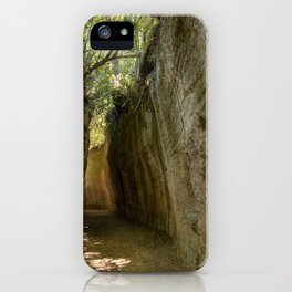 Excavated Etruscan Roads iPhone Case