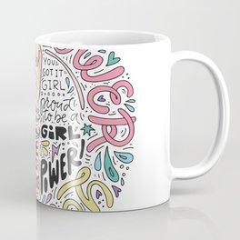 Girl Power Illustration Coffee Mug