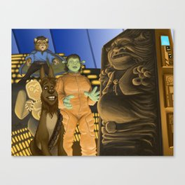 The Empire Shreks Back Canvas Print