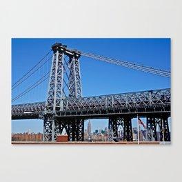 Williamsburg Bridge view Canvas Print