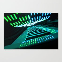Neon Keys Canvas Print