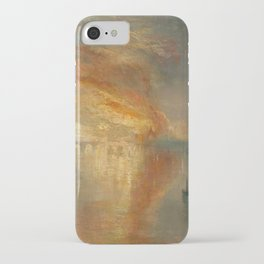 The Burning of the Houses of Lords and Commons, 16 October 1834- Joseph Mallord WIlliam Turner iPhone Case
