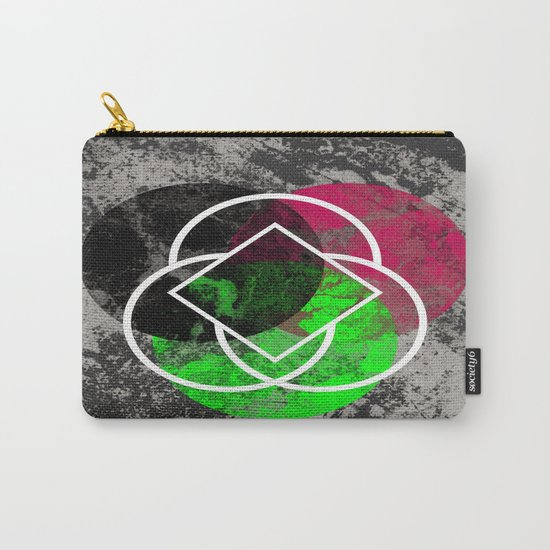 Textured Trio - Abstract, Geometric, Textured Artwork Carry-All Pouch