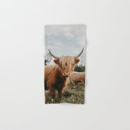 Highland Cow In The Country Hand & Bath Towel