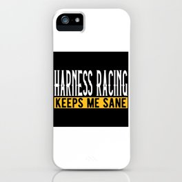 Harness Racing Lovers Gift Idea Design Motif iPhone Case