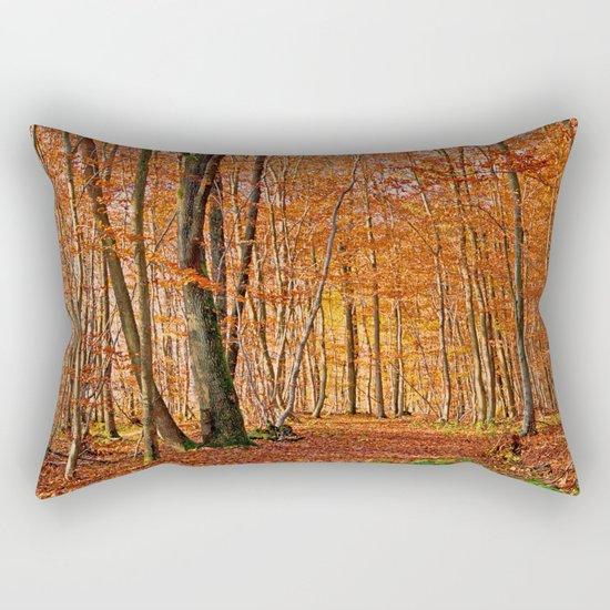 Autumn in the forest Rectangular Pillow