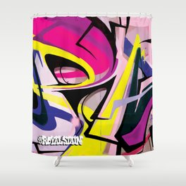 PAGER Mural Abstract Royal Stain Shower Curtain