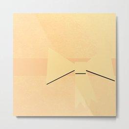Golden Bow Metal Print