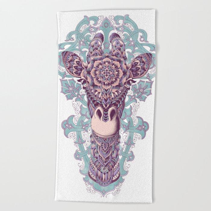 Giraffe (Color Version) Beach Towel