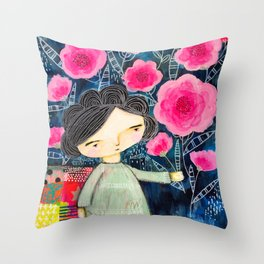 Quilted Princess Throw Pillow