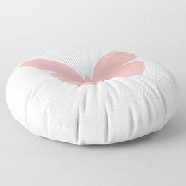 Pink Butterfly Design Floor Pillow