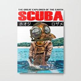 SHARK COUSTEAU Metal Print