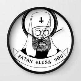 Satan bless you Wall Clock