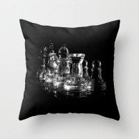 chess Throw Pillows featuring CHESS by  Monochromania/Anne Seltmann