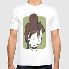 Chewbacca and Stormtrooper MEDIUM White Mens Fitted Tee