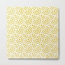 japanese pattern gold Metal Print