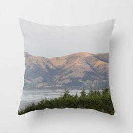 Sunrise Akaroa Hills Throw Pillow