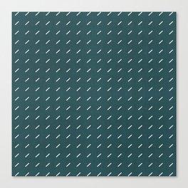 DASH DASH LINEN . TEAL WHITE Canvas Print