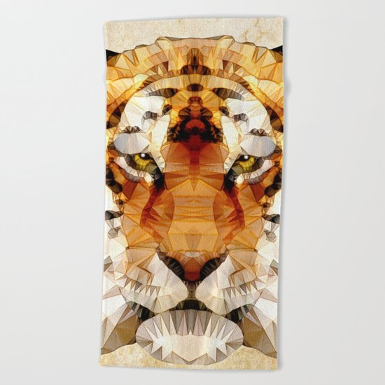 abstract tiger Beach Towel